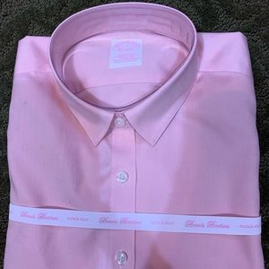 NWT Brooks Brothers cotton pale pink button down